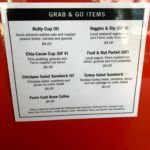 Grab & Go menu